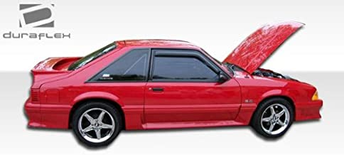 Brightt Duraflex ED-AKY-613 Cobra R Side Skirts Rocker Panels - 2 Piece Body Kit - Compatible With Mustang 1979-1993