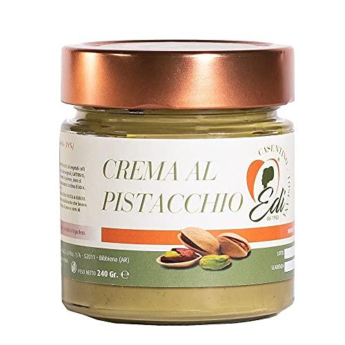 Crema para untar de pistacho - RECETA EXCLUSIVA - lista para usar, 100% hecha en Italia - EDI - producto artesanal