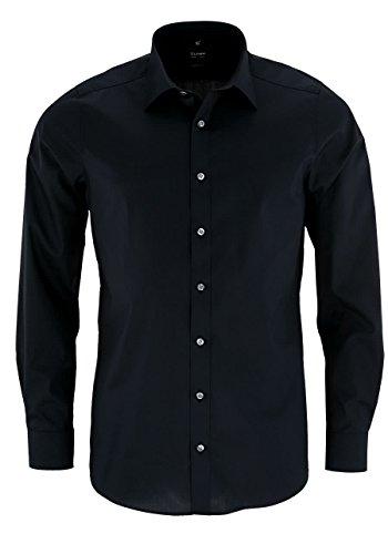 OLYMP Level Five Body fit Hemd Langarm Stretch schwarz Größe 42