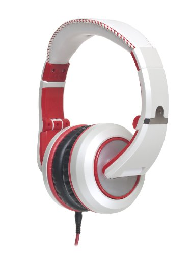 cad headsets CAD Audio Sessions MH510W Closed-Back Studio Headphones, White/Red