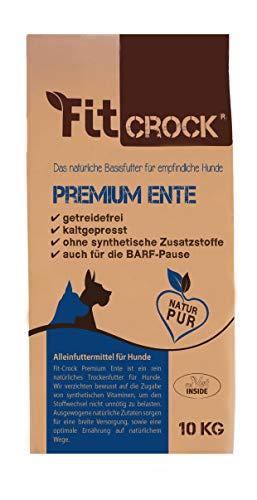 cdVet Naturprodukte Fit-Crock Premium Ente Mini 10 kg - Hund - Futter - getreidefrei - allergiearm - bei fütterungssensiblen Hunde - ausgewogene + hochwertige + natürliche Zutaten - kaltgepresst