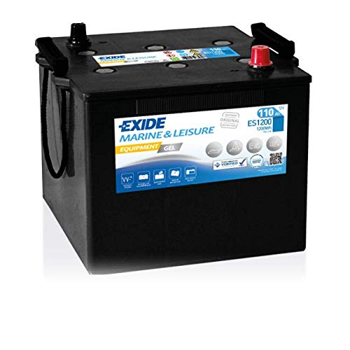Exide Batteries ES1200 GEL Versorgungsbatterie, Schwarz