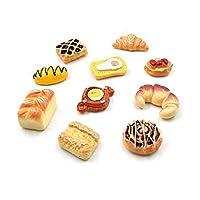 XHYRB 10個入り樹脂冷蔵庫マグネットお土産冷蔵庫マグネットステッカークリスマスハロウィンのホームインテリアキッチンデコレーションアクセサリー 小さくて便利 (Color : 10pcs Bread)