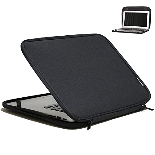 INNTZONE 11-11.6 Inch Foldable Laptop Sleeve Slim Case Lightweight Bag Notebook Computer Carrying Flip Cover - Black
