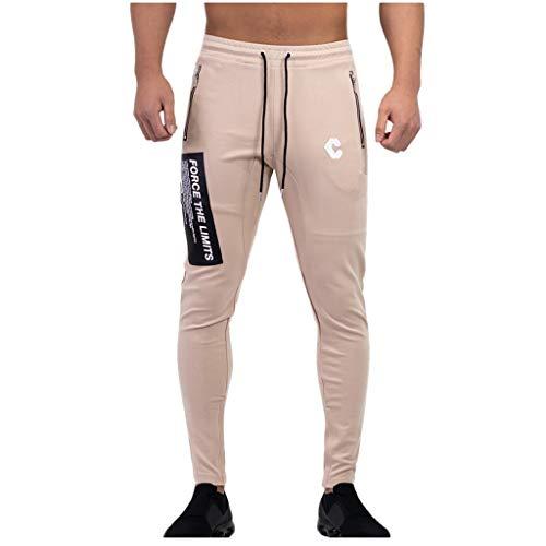 Luotuo Herren Sport Trousers Muskel Männer Outdoor Sports Running Fitness Hosen Jogginghose Stretchhose Trainingshose Casual Tunnelzug Long Pants Atmungsaktiv Bequem Sporthosen