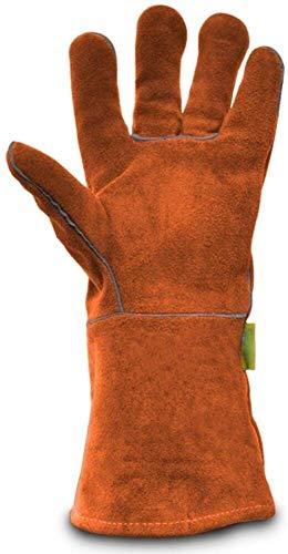 DHFDHD Guantes de soldador Fuego a prueba de calor soldadores Guantes Guantes de piel Guantes Forge grandes accesorios de cuero for soldadores de soldadura Guantes Guantes de trabajo