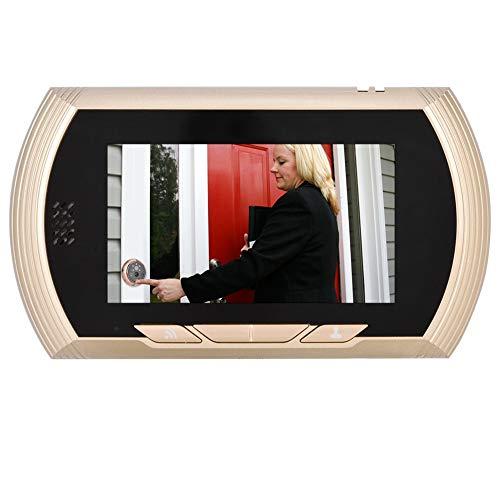 Pwshymi Cámara de Puerta de Alarma de detección de Movimiento de Timbre de videoportero, para apartamento, para Sistema de Entrada de intercomunicador