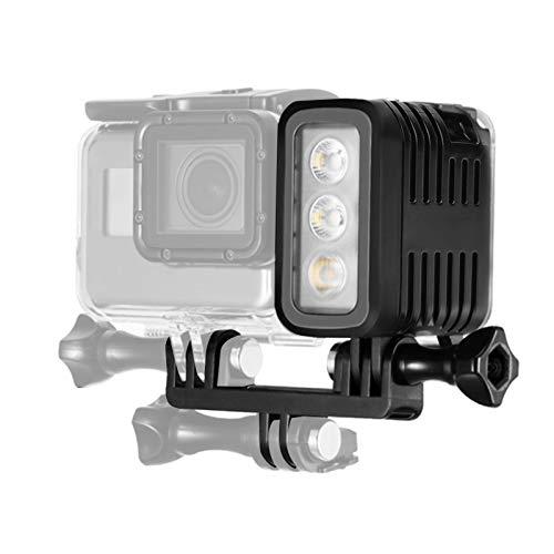 Bindpo Luz de Relleno de cámara, luz de Buceo Suptig, Alta Potencia, Regulable, Impermeable, luz de Video LED, luz Nocturna, luz subacuática, 98.4 pies (30 m) para cámara Deportiva para Gopro