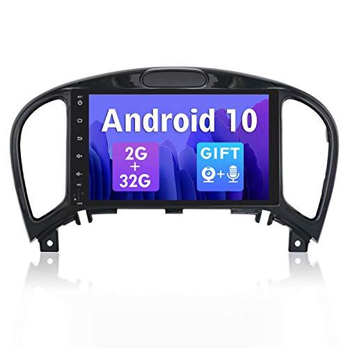 SXAUTO Android 10 Doppia Din Autoradio Compatibile JukeJ15(2012-2019) - Gratuita Camera Microfono - [2G/32G] - Supporto MirrorLink 4G WiFi DAB Bluetooth5.0 Volante Google Carplay - 8 Pollici