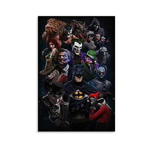 Batman Anime Series Poster sur toile et décoration murale 30 x 45 cm
