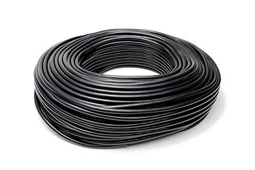 HPS HTSVH35-BLKx10 Black 10' Length High Temperature Silicone Vacuum Tubing Hose (60 psi Maxium Pressure, 3.5mm ID)