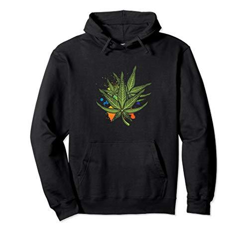 Hanf Hanfblatt Cannabis Kiffen Marihuana Kiffer Geschenk Pullover Hoodie