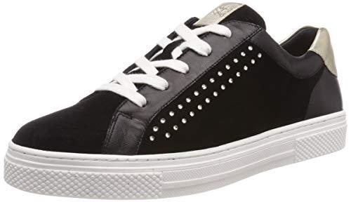 Hassia Damen Bilbao, Weite H Sneaker, Schwarz (Schwarz/Platin 0175), 38 EU