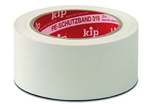 Kip PE-Schutzband 319-55 - Professionelles Abklebeband aus PE für Kunststoffuntergründe - weiß 50mmx33m