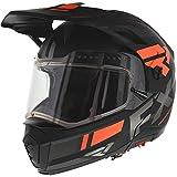 FXR Maverick Modular Team Helmet - Electric Shield - Orange/Black/Charcoal - MED