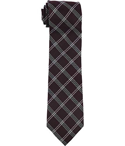 Tommy Hilfiger Mens Classic Tattarsall Self-tied Necktie, Red, One Size