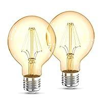 Dekorativ: Sie erhalten dieses dekorative Leuchtmittel im praktischen 2er Set. Das dezent in Bernstein gefärbte Glas verstärkt den Retro-Look und erzeugt eine gemütliche, entspannte Atmosphäre Vintage: Die klare Filament Lampe im Edison Stil erzeugt ...