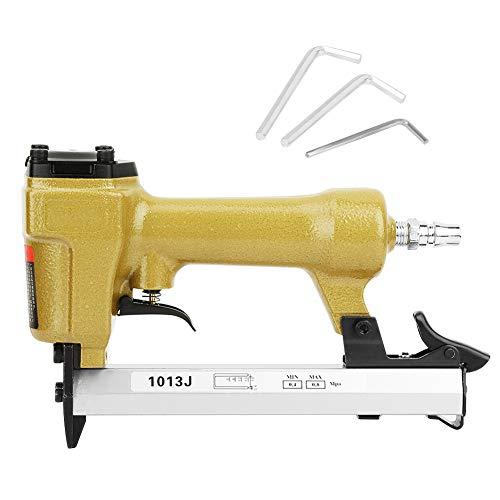 Pistola de clavos de recorte industrial de 60-100psi, pinza de acabado neumática, pistola de clavos para carpintería, pistola de clavos de aire, grapadora de aire de 1/4 pulgadas para carpintería