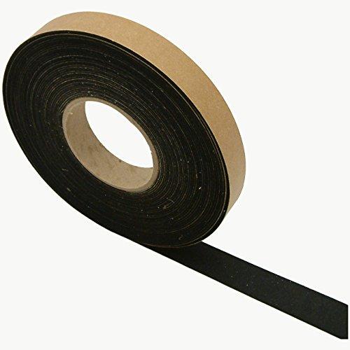 JVCC FELT-065 Polyester Felt Tape [1.5mm thickness felt]: 1 in. x 50 ft. (Black)