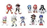 XINFA Traje de Felpa Sonic 10 unids/Set World Adventure Soft Doll Animal Dibujos Animados Peluche Peluche Juguete Regalo Navidad niños