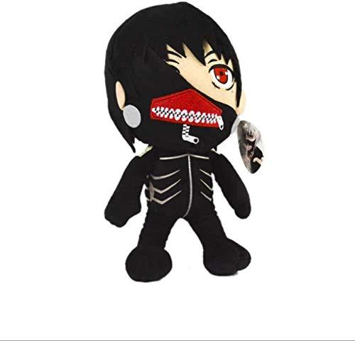 DINEGG Plüschspielzeug Japan Anime Tokyo Ghoul Plüschpuppen Kaneki Ken Plüsch Weiche Gefüllte Spielzeug Kinder Geschenke 18cm YMMSTORY