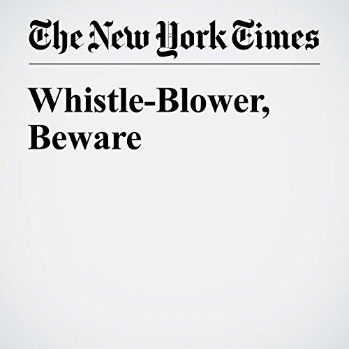 Whistle-Blower, Beware audiobook cover art