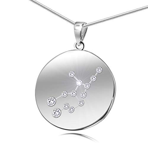 Jungfrau Halskette in Silber