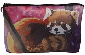 Red Panda Cosmetic Bag Zip-top Closer - Taken From My Original Paintings  Red Panda- Shy Beauty