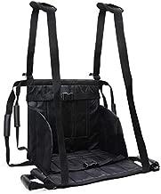 REAQER Patient Transfer Belt for Patient Seniors Wheelchair Belt Lift Stair Slide Slings Aid Foldable Oxford Cloth Black (8 Handles+2 Shoulder Straps)