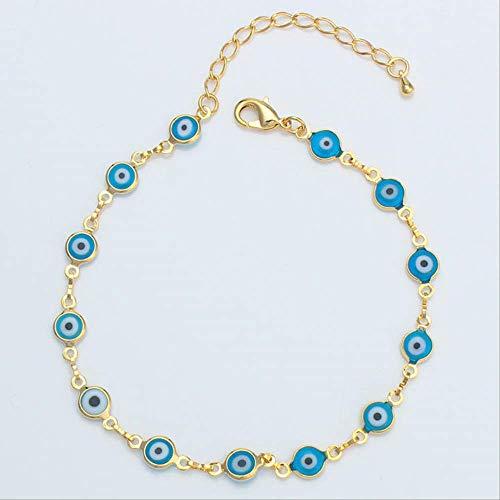 Pulsera De Ojos Azul/Tobillo para Las Mujeres Oro Color Mal Ojo De La Cadena del Pie Encanto Brazalete Jewelryarab/Egipto/Turkey/Irak/Oriente Medio