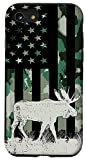 iPhone SE (2020) / 7 / 8 Moose Hunting American US Flag USA camouflage Hunter Case