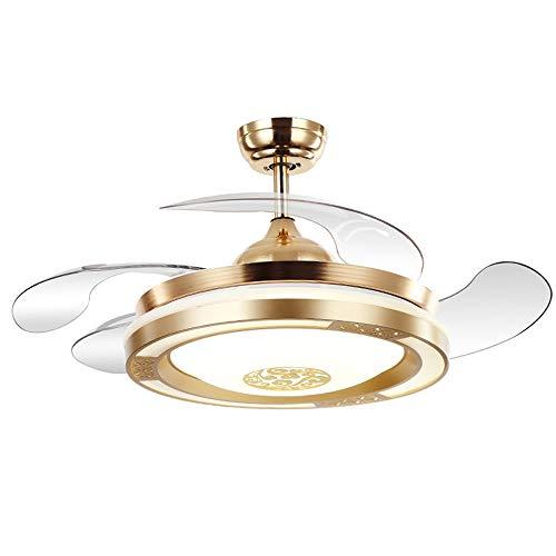 MAOS Ventilador de Techo con iluminación, luz de Techo de Ventilador LED, Regulable con Control Remoto, Velocidad de Viento Ajustable, lámpara de Ventilador de Sala de Estar Ultra Tranquilo Creativa