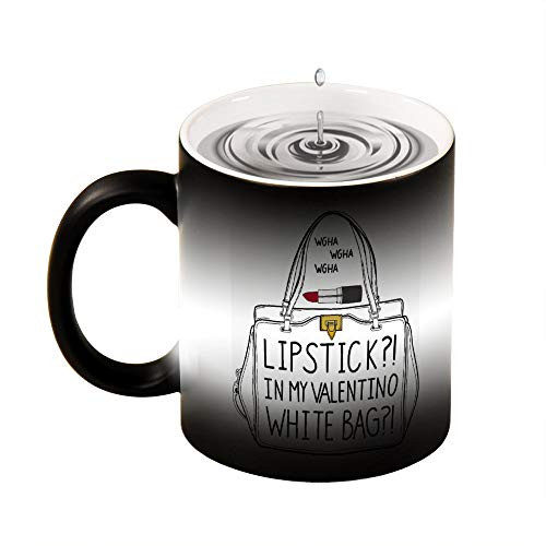 Magic mok warmte gevoelige lippenstift tas grappige kleur veranderen koffie mok Cup 11 OZ