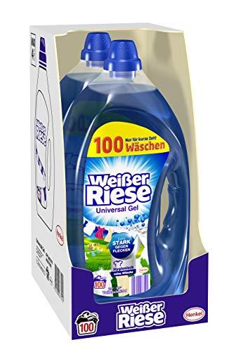 Weißer Riese Universal Gel, Flüssigwaschmittel, 200 (2 x 100) Waschladungen, extra stark gegen Flecken