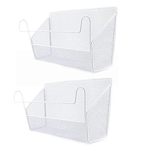 iVansa Bett Organizer, 4 Stück Bettablage Hängeaufbewahrung Bett Rack für Buch, Fernbedienung, Magzine, Stift, iPad, Telefon (Weiß 2)
