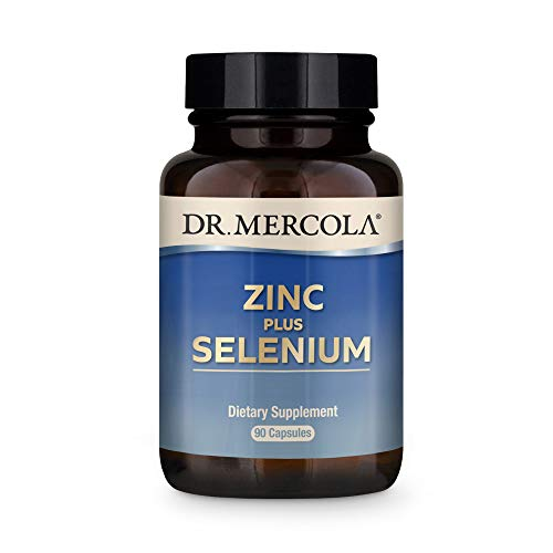 Dr. Mercola Zinc Plus Selenium Dietary Supplement, 90 Servings (90 Capsules), Supports Immune Health, Non GMO, Soy Free, Gluten Free