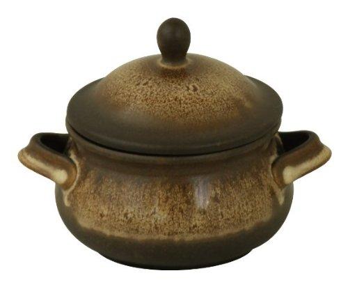 Original Bunzlauer Keramik Suppentasse / Marmeladentopf 0.75L im Dekor ZACIEK (Bauernkeramik)