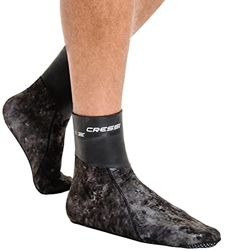 Cressi Sarago Socks 3mm Escarpines térmicas de Neopreno, Unisex-Adult, Marrón Camuflaje, S