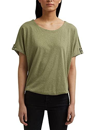 ESPRIT Damen 991EE1K320 T-Shirt, 345/LIGHT Khaki, M