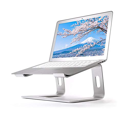PPCAK Soporte de Soporte portátil Soporte de Aluminio para MacBook portátil portátil Soporte portátil Soporte de Escritorio PC portátil PC Soporte de computadora (Color : Silver)