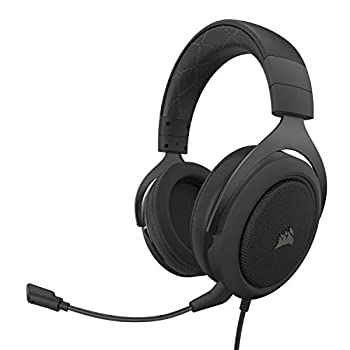 Corsair HS60 PRO - 7.1 Virtual Surround Sound Gaming Headset with USB DAC - Works with PC Xbox Series X Xbox Series S Xbox One PS5 PS4 and Nintendo Switch - Carbon  CA-9011213-NA