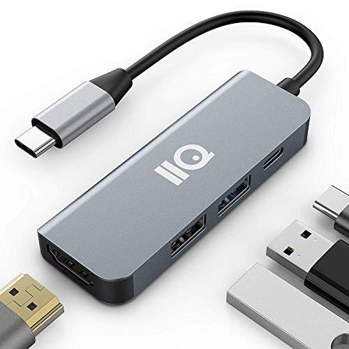 USB Type C HDMI アダプタ for Nintendo Switch IIQ hdmiポート+ USBタイプC高速PD充電ポート + USB 3.0高速ポート + USB2.0ハブポート 4-in-1 変換 アダプタ /MacBook Pro/MacBook Air 2018/2019 iPad Pro 2018/2019,Samsung Galaxy S10/note 9/Surface Go/ USB C デバイス対応