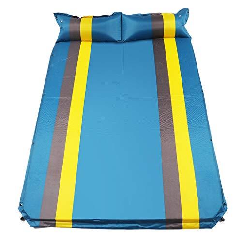 WXL Niet-opblaasbare Matras Dubbele Draagbaar Buitenshuis Vocht Bestendig Vochtbarrière Opblaasbaar Bed Voor Wild Camping 190 * 130 * 3CM (Color : A)