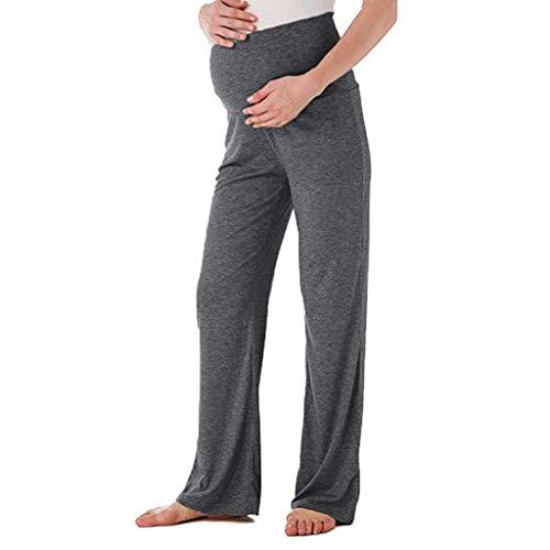 Premamá Invierno Leggins Abrigos Pantalones Rectos Anchos De Maternidad para Mujer Pantalones EláSticos De Embarazo