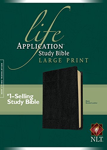 NLT Life Application Study Bible, Second Edition, Large Print (Red Letter, Bonded Leather, Black)
