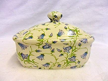 Butterdose Handarbeit in zartem blau Glockenblume design preisvergleich bei geschirr-verleih.eu