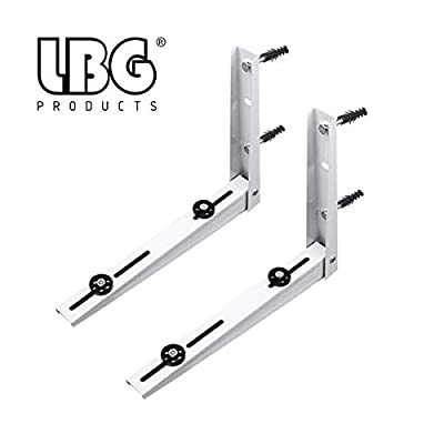 LBG Products Universal Outdoor Heavy Duty Wall Mounting Bracket for Ductless Mini Split Air Conditioner Condenser Unit,Heat Pump Systems