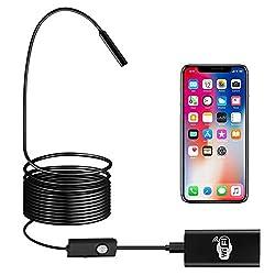 【Une grande compatibilité】: Cet endoscope caméra adopte le réseau qui est plus compatibilité, il est compatible avec votre smartphone(IOS/Android) et le système windows etc. Parfaitement pour les utilisateurs ayant besoin d'effectuer des travaux d'in...