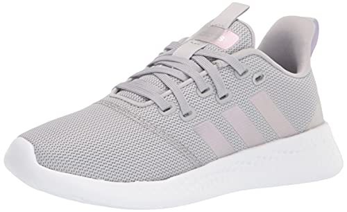 adidas Women's Puremotion Running Shoe, Grey/Silver Metallic/Purple Tint, 7.5