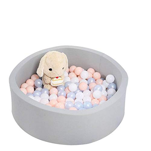 Baby Ball Pit Memory Foam Ball Pool Soft Indoor Outdoor Baby Playpen, Ideal Gift Play Toy for Kids Children Toddler Infant, Grey